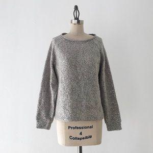ALICE + OLIVIA | Silver Sequin Pullover